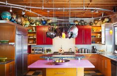 Colorful and Eclectic #homedecor #kitchens