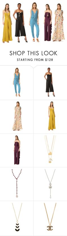 """Jumpsuit Outfit..**"" by yagna ❤ liked on Polyvore featuring Young, Fabulous & Broke, Brandon Maxwell, RED Valentino, Zimmermann, Alexis, Tory Burch, ela rae and Kate Spade"
