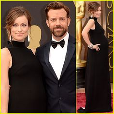 Olivia Wilde Bares Baby Bump on Oscars 2014 Red Carpet with Jason Sudeikis!   2014 Oscars, Jason Sudeikis, Olivia Wilde, Pregnant Celebrities : Just Jared