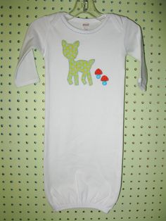 Baby Gown Applique and Hand Embroidery by sugarbumpscreations, $26.00