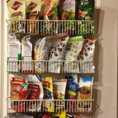 The inside of my food pantry door. Thank you Pinterest for the idea! I Love You!