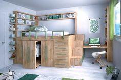 letto in legno ecologico per ragazzi