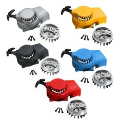 Alloy Pull Start Pullstarter Recoil Starter Flywheel For 47cc 49cc Mini Scooter  Kid Dirt Bike ATV Quad 1 PC