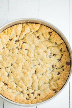 Big Eighties Chocolate Chip Cookie Cake   AllFreeCopycatRecipes.com