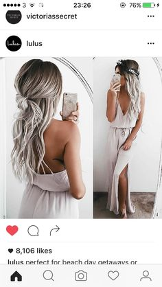 Metallic silver ombre idea