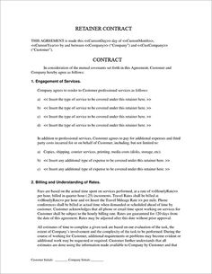 Subcontractor Short Form Contract  Contractor And Employee