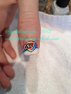 Okc thunder nail design nail designs pinterest thunder okc thunder logo nailart via polishednailsok latest tweets shannon bellanca prinsesfo Image collections