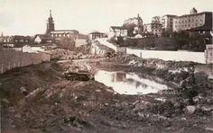 Construcción de los túneles de Begoña, 1959.