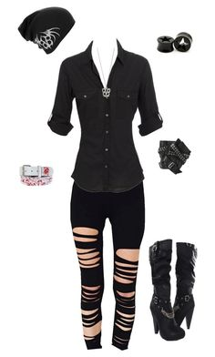 """""""Untitled #542"""" by death-to-your-heart ❤ liked on Polyvore featuring James Perse and Karl Lagerfeld"""