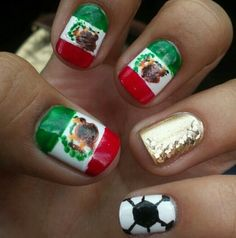 Viva mexico banderitas mexican flag nail art decals pura cultura mexico nails world cup prinsesfo Gallery