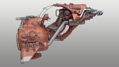 Trying out some different colors for the vehicle, was a bit tired of the blue so I tried giving it a bit more sandy red look. Concept Ships, Concept Cars, Sky Bike, Hover Bike, Arte Sci Fi, Star Wars Vehicles, Sci Fi Models, Sci Fi Ships, Tecno