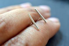 Nude - silver earrings - studs $49.47