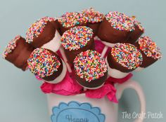 The Craft Patch: Chocolate Covered Marshmallow Pops Bouquet