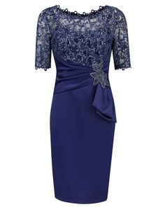 Sheath Bateau Half Sleeves Navy Blue Mother of The Bride Dress with Lace Beading - Sheath Mother Dresses,Half Sleeves Mother Dresses,Navy Blue Mother Dresses,Lace Beading Mother Dresses,Mother of The Bride Dresses Source by - Half Sleeve Dresses, Mob Dresses, Satin Dresses, Lace Dress, Short Dresses, Fashion Dresses, Dresses With Sleeves, Formal Dresses, Wedding Dresses