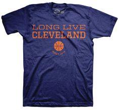ChristmasGifts  wishlist  basketball  CLEVELAND Long Live Cleveland  Basketball Blue T-shirt  Cavs  Cavaliers  basketball www.freshbrewedtees.com c5cd85a705d0
