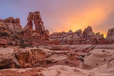 Canyonlands National Park, Needles District, Utah, Elephant Canyon, Druid Arch