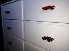 Hot wheels car drawer Knobs by Whyknobs on Etsy