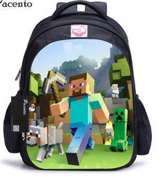 4aaf4b15df7 Minecraft skoletaske Minecraft Outfits, Minecraft Backpack, Minecraft  Clothes, Back To School Bags,