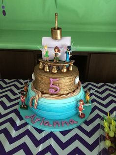 The Pirate Fairy Birthday Party  Pirate Boat Cake