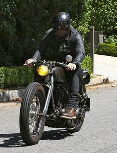 David Beckham Photos: David Beckham Takes His Bike for a Ride