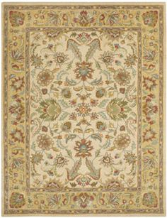 The Sarouk stlye, a member of the Panache collection, is a great cream-colored rug from #capelrugs