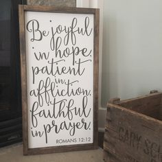 This rustic sign is a beautiful addition to any home. The lettering is painted. The sign in the photo is approximately 11 in x 11 in, and is made