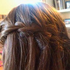 Waterfall braid. nice casual hair style