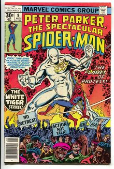 Spectacular Spider-Man 9 Marvel 1977 FN White Tiger Civil Rights Protest