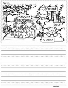 Labeled Picture Writing Prompts FREE Sample. These are a great way to support kindergarten or first grade students who are beginning writers or those writers struggling with spelling.