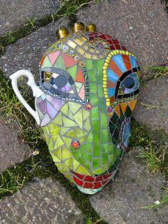 "Small Mask ""Tea Time""   by Herzstücke Mosaic Masks"