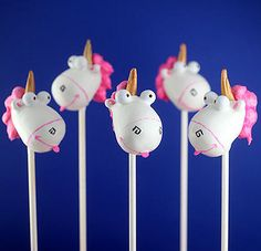 Unicorn Cake Pops by Bakerella, via Flickr