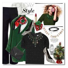 """Holiday Style"" by vkmd on Polyvore featuring H&M, Nina Ricci, Rochas, Yves Saint Laurent, Salvatore Ferragamo, Alice + Olivia, David Yurman, Threshold, Dolce&Gabbana and Calvin Klein"