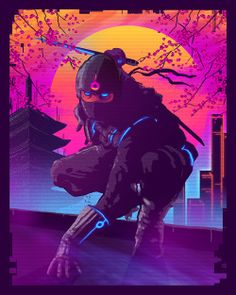 'Neo-Tokyo' initial concept art I developed for 'Trials of the Blood Dragon'.