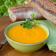 Potage de carottes, parfumé à l'orange
