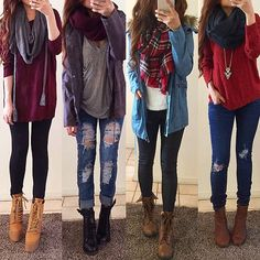 I love all of these outfits!...... I need to go on a huge shopping spree!