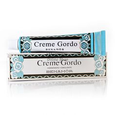 """Benamôr Creme Gordo"" - £7.30 -   For dehydrated skins - Dry, rough, with stretch marks or friction disturbances, excessive exposure to sun or cold.      http://www.theportugalonlineshop.com/benamor-creme-gordo-extreme-moisturizing-cream-90ml-cream-gel (€8.07) (€8.07)"