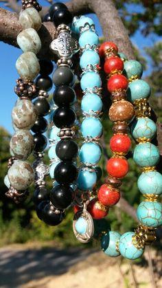 Semiprecius Yoga beaded bracelet. My brand: Hamer Made With Love.