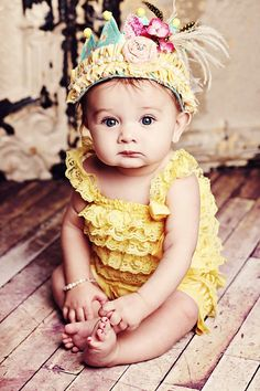 Baby girl in special crown