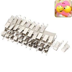 40 pcs silver tone metallic spring curtain drapery alligator hooks