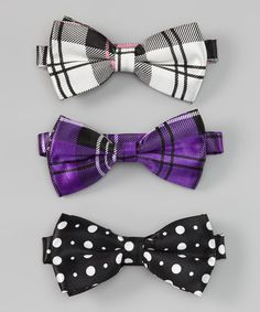 Sizzle Bow Tie Set by Chicky Kids by Chicky Chicky Bling Bling on #zulily #cutiestyle
