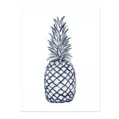 """Designed and printed by Sarah Tolzmann. Her perfectly curated prints for the shoppe include sketches and texture. This pineapple is the perfect way to say """"welcome""""! 8"""" x 10"""" Gallery quality Giclée pr"""
