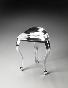 Metalworks Tripod Transitional Silver Aluminum Stool