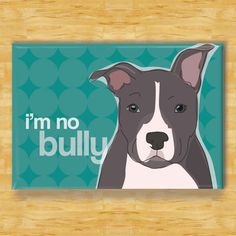 Blue Pit Bull Dog Breed Magnet  No Bully by PopDoggie on Etsy, $5.99