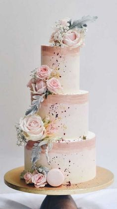 Pretty Wedding Cakes, Wedding Cakes With Cupcakes, Elegant Wedding Cakes, Elegant Cakes, Wedding Cake Designs, Pretty Cakes, Beautiful Cakes, Unique Weddings, Wedding Themes