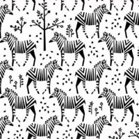 MICHAEL MILLER - Motif Personnel - Tissu zèbres stylisés fond blanc 20 X 110 cm