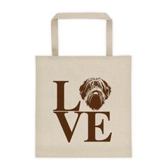 LOVE tote. Wirehaired Pointing Griffon.