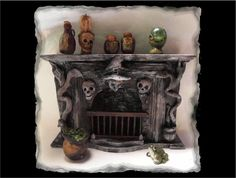 Dollhouse Miniature Witches Haunted Fireplace OOAK 1:12  | eBay