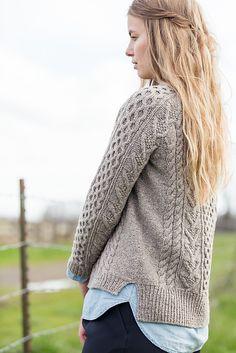 Ravelry: Bronwyn pattern by Melissa Wehrle Aran Knitting Patterns, Knit Patterns, Hand Knitting, Sweater Patterns, Brooklyn Tweed, Cable Knit, Knitwear, Knit Crochet, Sweaters For Women