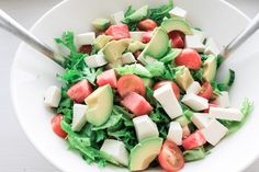 Feta salad with melon.