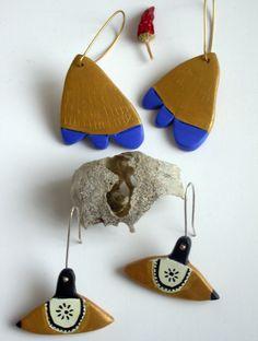 ceramic earrings by Mala Hermana